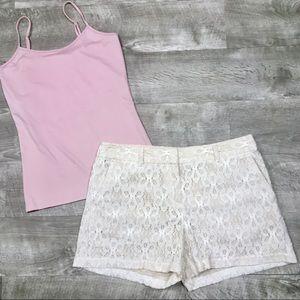 😘Ann Taylor Loft  lace shorts